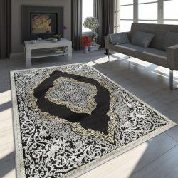 Exclusive vintage szőnyeg keleti design szőnyeg fekete-arany 80x300 cm