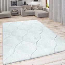Shaggy szőnyeg marokkói mintával fehér 120x160 cm