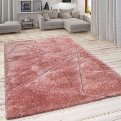 Szinbád shaggy szőnyeg geometria mintával pink 120x160 cm