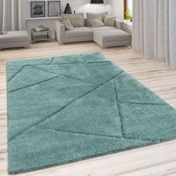 Szinbád shaggy szőnyeg geometria mintával zöld 120x160 cm