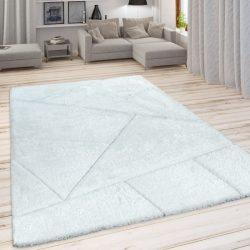 Szinbád shaggy szőnyeg geometria mintával fehér 120x160 cm