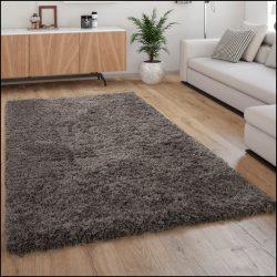 Flokati stílusú shaggy szőnyeg hosszú szálú puha bozontos antracit 120x160 cm