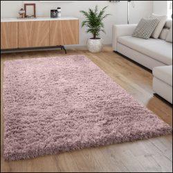 Flokati stílusú shaggy szőnyeg hosszú szálú puha bozontos halványlila 120x160 cm