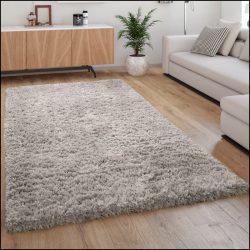 Flokati stílusú shaggy szőnyeg hosszú szálú puha bozontos szürke 120x160 cm
