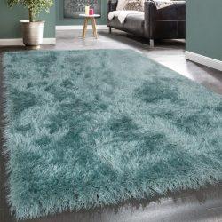 Royal exkluzív shaggy szőnyeg hosszú szálú puha bozontos türkiz 80x150 cm