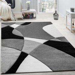 3D hatású design szőnyeg absztrakt fekete-fehér 80x300 cm