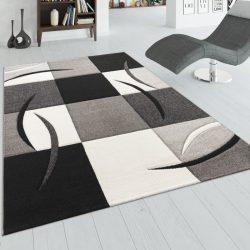 3D hatású design szőnyeg absztrakt fekete-fehér kockák 80x300 cm