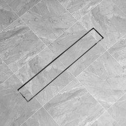 730x140 mm lineáris rozsdamentes acél zuhany lefolyó