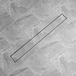 rozsdamentes acél tusoló lefolyó 1030 x 140 mm
