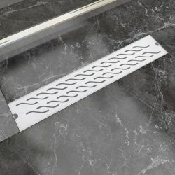 630x140 mm Lineáris hullámos rozsdamentes acél zuhany lefolyó