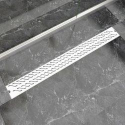 1030x140 mm lineáris rozsdamentes acél hullámos zuhany lefolyó