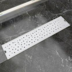 530x140 mm Lineáris rozsdamentes acél buborék zuhany lefolyó