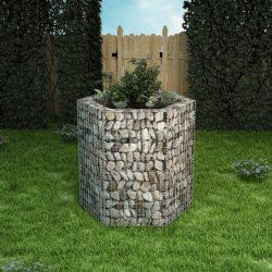 hatszögletű gabion magaságyás 100 x 90 x 100 cm
