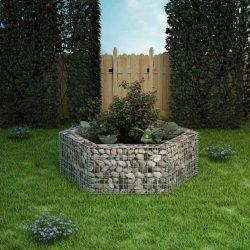 hatszögletű gabion magaságyás 160 x 140 x 50 cm
