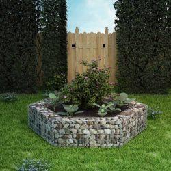 hatszögletű gabion magaságyás 200 x 173 x 40 cm