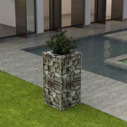 acél gabion magaságyás 50 x 50 x 100 cm