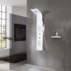 fehér alumínium zuhanypanel 20 x 44 x 130 cm