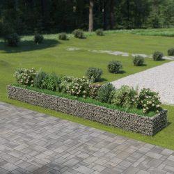 horganyzott acél gabion magaságyás 540 x 90 x 50 cm