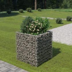 horganyzott acél gabion magaságyás 90 x 90 x 100 cm