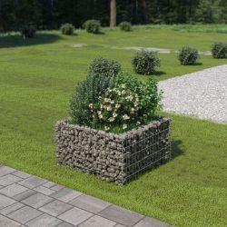 horganyzott acél gabion magaságyás 90 x 90 x 50 cm