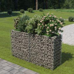 horganyzott acél gabion magaságyás 180 x 50 x 100 cm