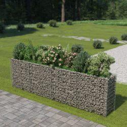 horganyzott acél gabion magaságyás 360 x 50 x 100 cm