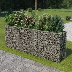 horganyzott acél gabion magaságyás 270 x 50 x 100 cm
