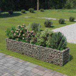 horganyzott acél gabion magaságyás 270 x 50 x 50 cm