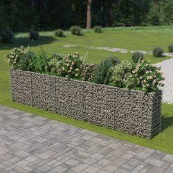 horganyzott acél gabion magaságyás 450 x 50 x 100 cm