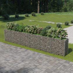 horganyzott acél gabion magaságyás 540 x 50 x 100 cm