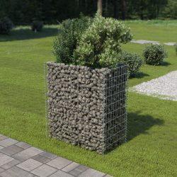 horganyzott acél gabion magaságyás 90 x 50 x 100 cm