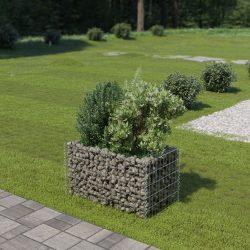 horganyzott acél gabion magaságyás 90 x 50 x 50 cm