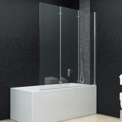 ESG zuhanykabin 3-paneles összecsukható ajtóval 130 x 138 cm