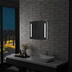 LED-es fürdőszobai falitükör 60 x 50 cm