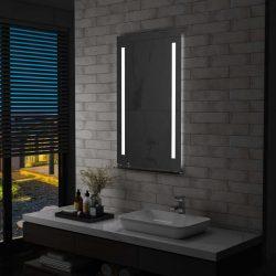 LED-es fürdőszobai falitükör polccal 60 x 100 cm