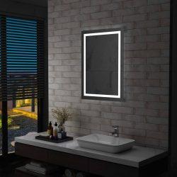 LED-es fürdőszobai tükör érintésérzékelővel 60 x 80 cm