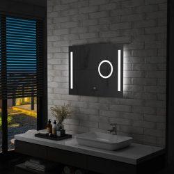 LED-es fürdőszobai tükör érintésérzékelővel 80 x 60 cm