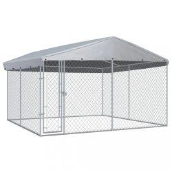 kültéri kutyakennel tetővel 382 x 382 x 225 cm