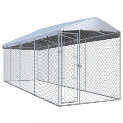 kültéri kutyakennel tetővel 7,6 x 1,9 x 2,4 m