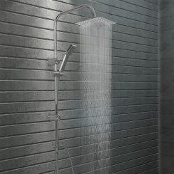 rozsdamentes acél dupla fejű zuhanyszett kézi zuhannyal