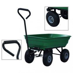 zöld kerti kézikocsi 300 kg 75 liter