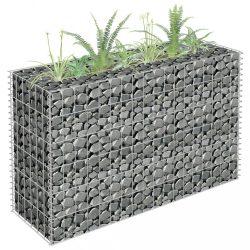 horganyzott acél gabion magaságyás 90 x 30 x 60 cm