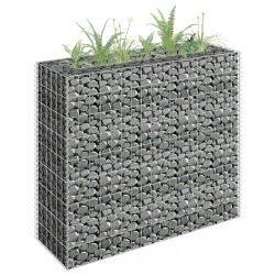 horganyzott acél gabion magaságyás 90 x 30 x 90 cm