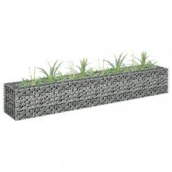 horganyzott acél gabion magaságyás 180 x 30 x 30 cm