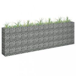 horganyzott acél gabion magaságyás 270 x 30 x 90 cm