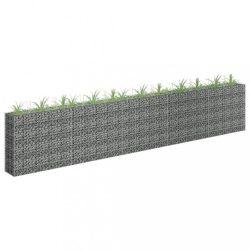 horganyzott acél gabion magaságyás 450 x 30 x 90 cm