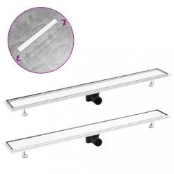 rozsdamentes acél 2 az 1-ben zuhanylefolyó fedéllel 103 x 14 cm