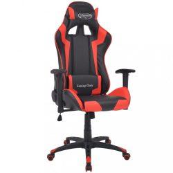 piros dönthető versenyautó ülés alakú műbőr irodai szék