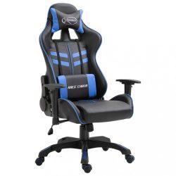 kék műbőr gamer szék