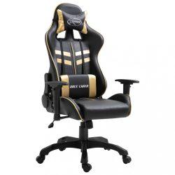 aranyszínű műbőr gamer szék